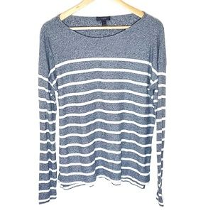J. Crew Heather Stripe Sweater Top Size Medium